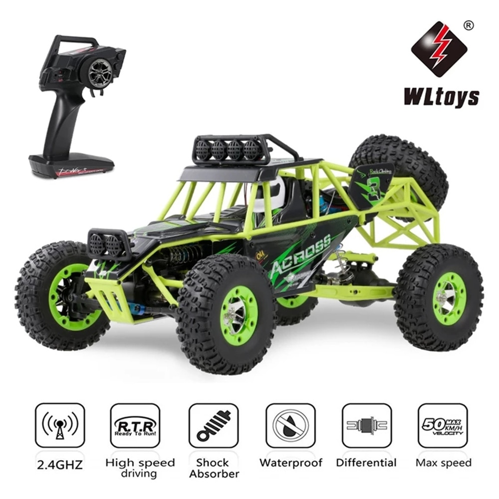 City Remote Control Off-Road Vehicle 4WD 1/12 50km / H High Speed Racing Vehicle Rc Electric Car 2.4g Crawler Car Model Toys enlarge