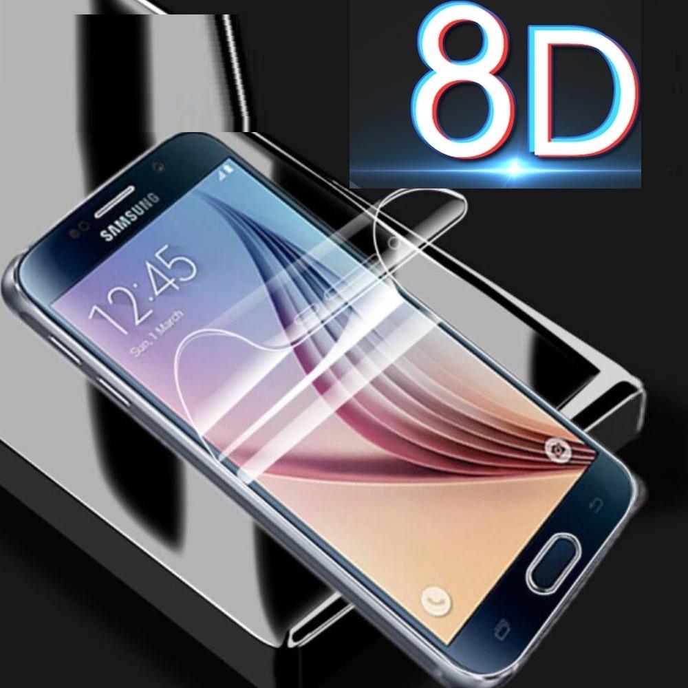 Filme de hidrogel 8d película protetora do telefone móvel para samsung j8 j7 j6 j4 plus j3 capa completa para galaxy note 7 5 4 3 2