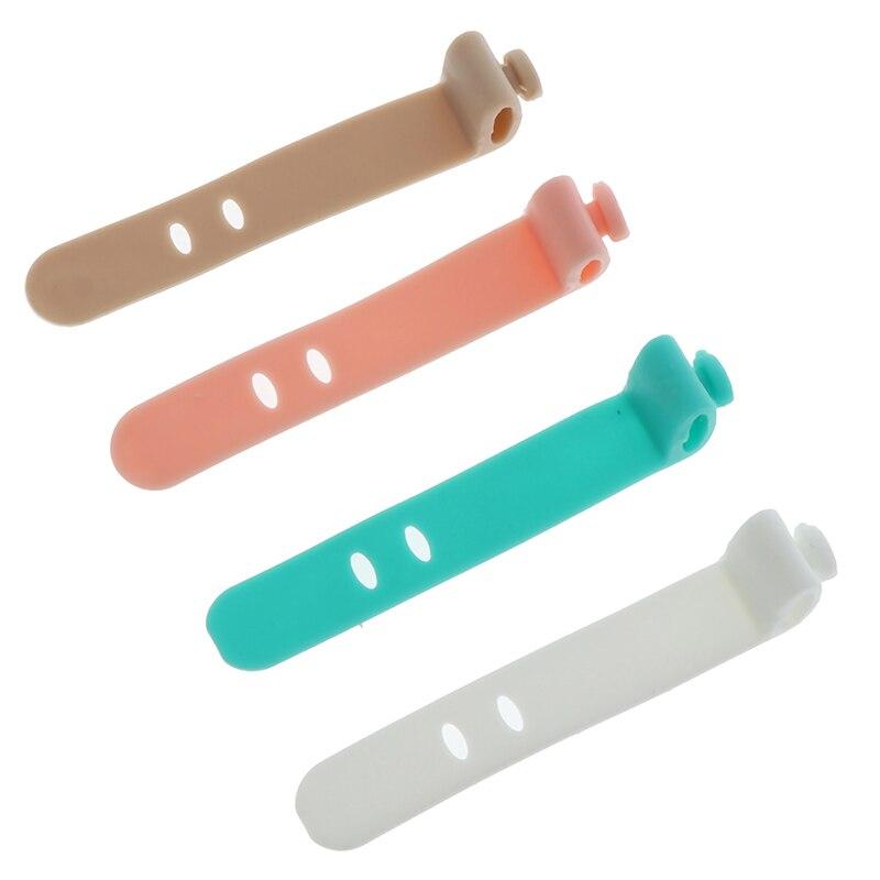 4 unids/set Gel de sílice bobinador de cable de auriculares Protector USB accesorio de soporte para teléfono Packe organizadores accesorios de viaje