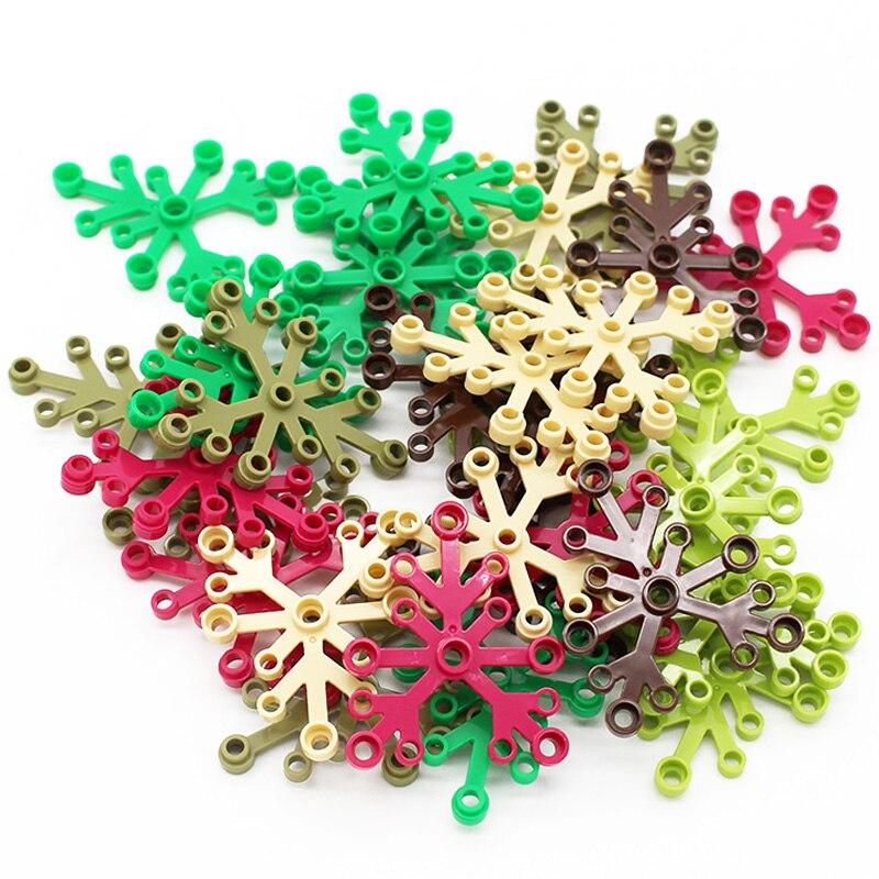 100pcs Building Block Toy for Children Moc Tree Leaf Garden DIY  Enlighten Building Blocks Block Assembles Particles kids Gift