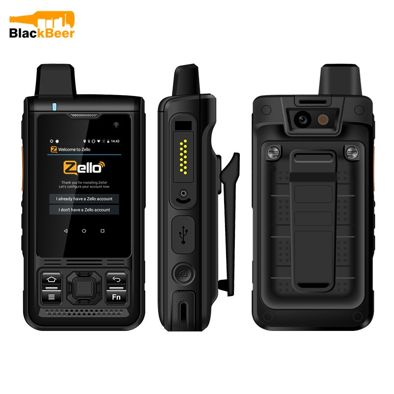 UNIWA B8000 Android 8.1 Walkie Talkie IP68 Waterproof MobilePhone MT6739 4G LTE Quad Core Smartphone POC Zello Cellphone 4000mAh