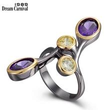 DreamCarnival1989 Creative-bague pour femme multi-couleurs Zircon délicat féminin bijoux longue bague de rencontre fête Must Have WA11793