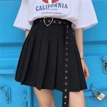 Mini faldas plisadas de cintura alta de estilo coreano tiktok, harajuku de talla grande de mujer para verano 2020