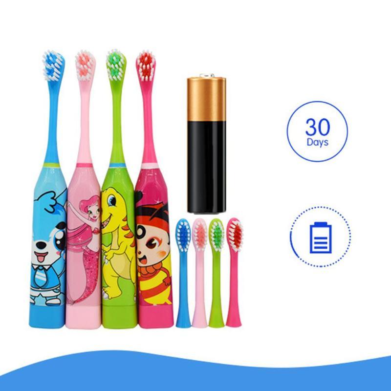 Автоматическая ультразвуковая электрическая зубная щетка для детей, водонепроницаемая