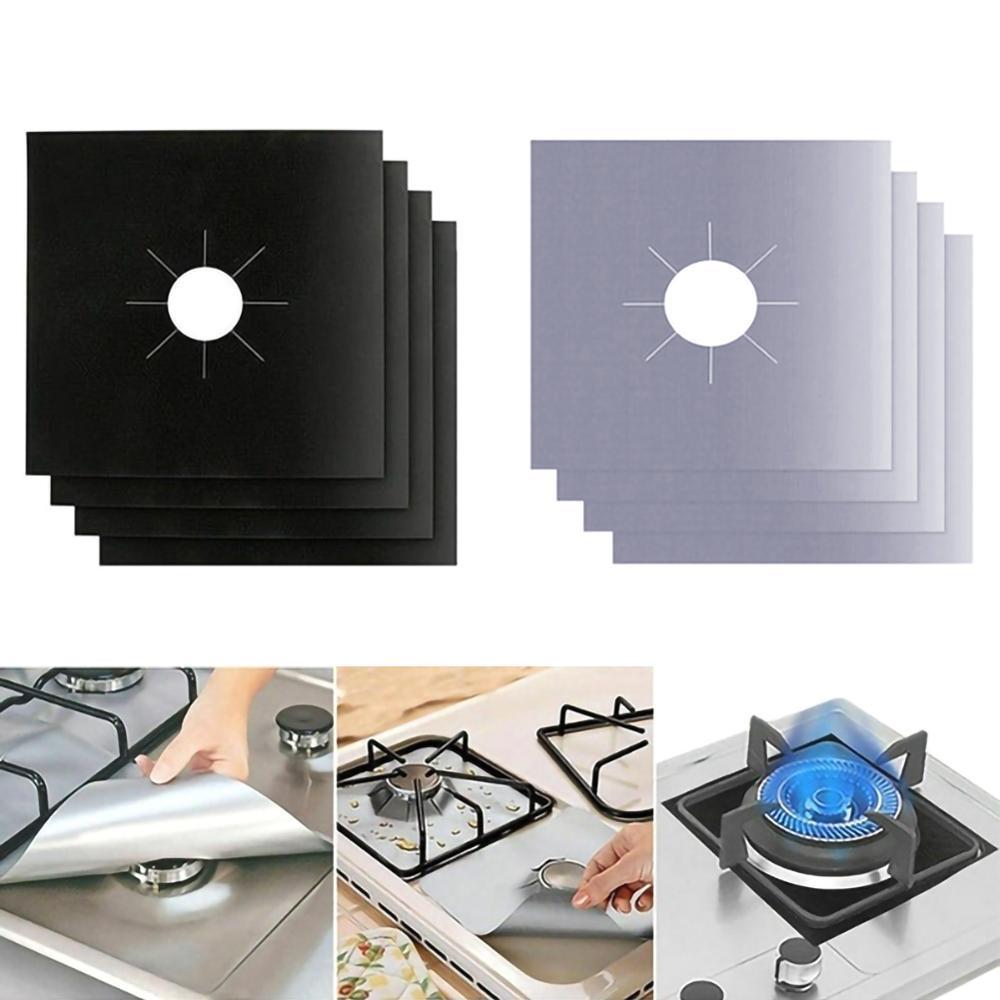 Коврик для газовой плиты 4/6/8 шт./комплект, защитная накладка для плиты, кухонные аксессуары