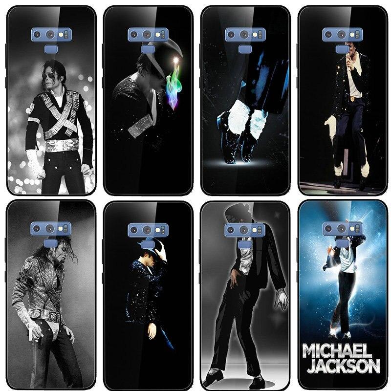 El baile de Michael Jackson de vidrio templado para Samsung Galaxy A6 A8 A9 A10 A20 A30 A40 A50 A70 A80 A90 S8 S9 S10 más bolsas