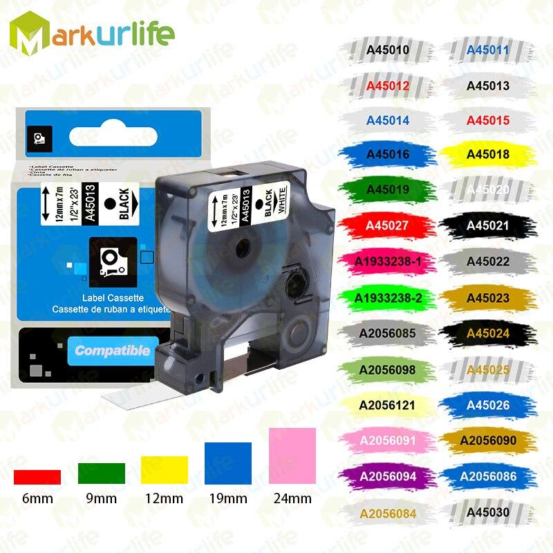 Markurlife многоцветные 45013 40913 43613 45018 40918 45016 совместимые с Dymo лейбл ленты для Dymo LM160 LM280 43613 45803 53713