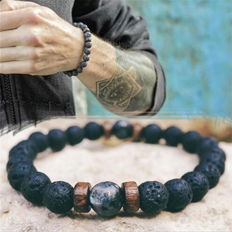 Pulsera de cuentas de piedra natural para hombre y mujer, brazalete, accesorios,...