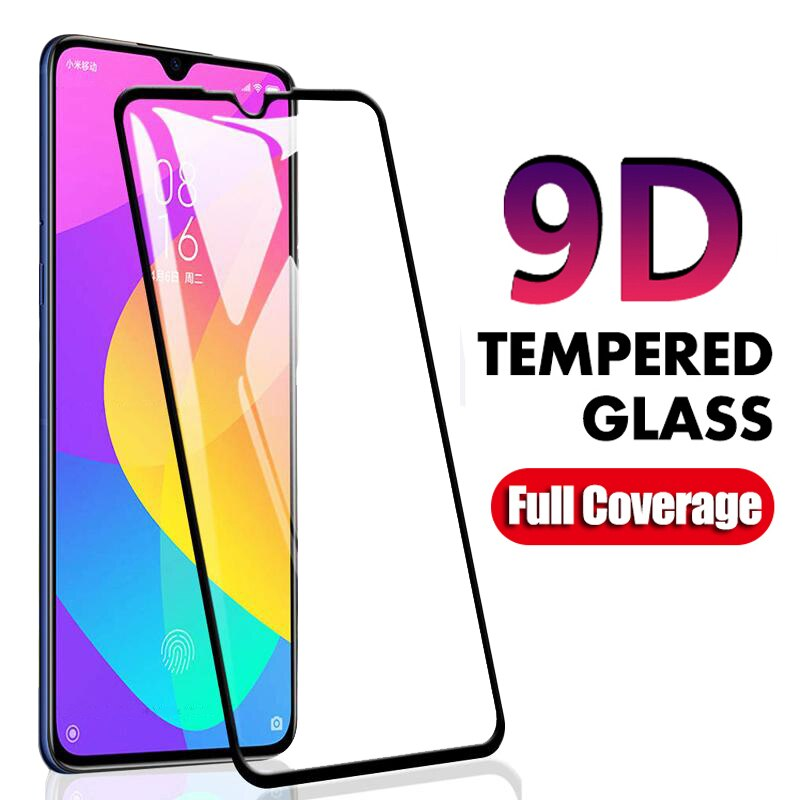 Vidrio Templado 9D para Xiaomi Mi 9 8 Lite SE MI9 T Pro Lite Mi A2 Lite A3 A1 5X MIA3 MIA2 película funda protectora de pantalla completa