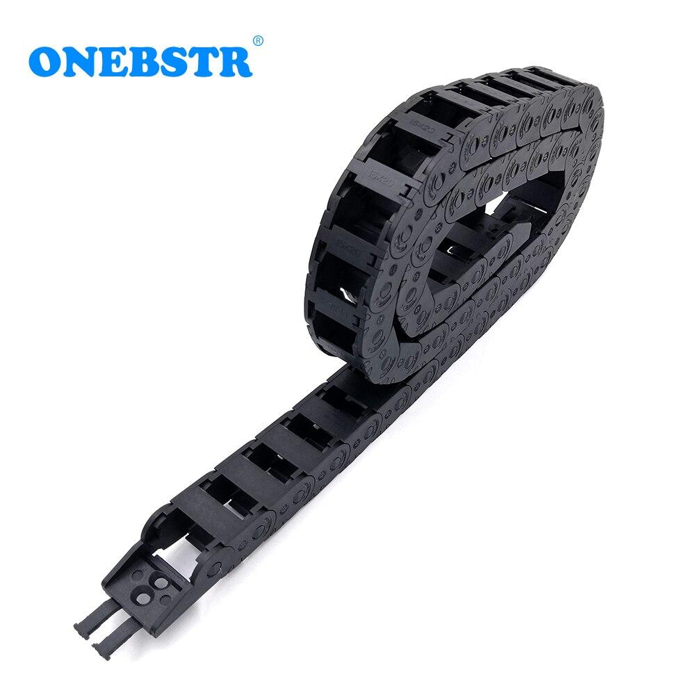 1 metro 15x20mm cadena de arrastre Cable portador Cable tipo de puente...
