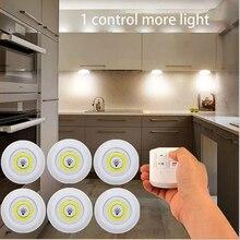 3W Super Helle Cob Unter Kabinett Licht LED Drahtlose Fernbedienung Dimmbare Kleiderschrank Nacht Lampe Home Schlafzimmer Schrank Küche