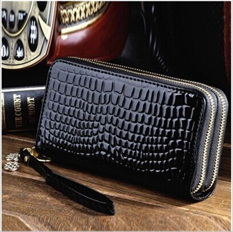 Long Women's Wallet Zipper Luxury Coin Purses Black Clutch Money Bag Female Money Credit Card Holder