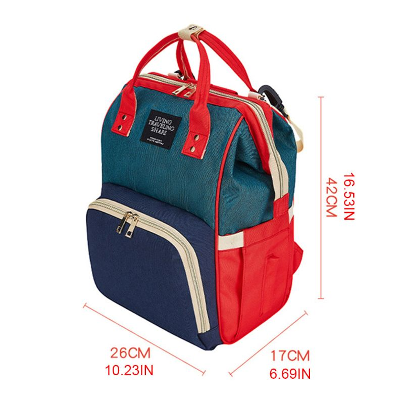 Mummy Mom Maternity Nappy Diaper Bag Large Capacity Baby Travel Backpack Handbag with Stroller Straps