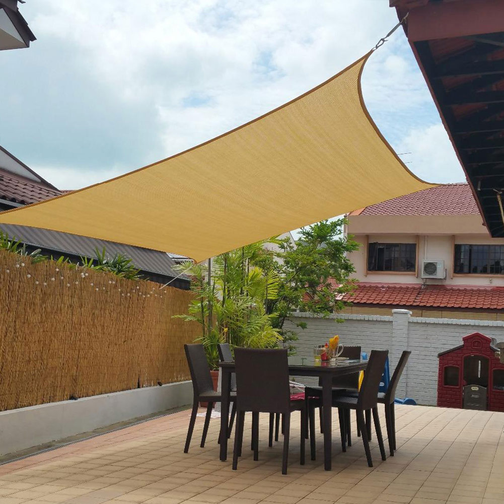 3X4m/4X4m UV Protecting 70% Waterproof Oxford Cloth Outdoor Sun Sunscreen Sun Shade Net Garden Decoration High Quality Guarantee