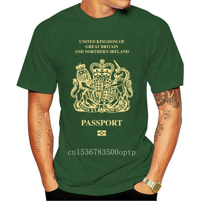 New Great Britain And Northern Ireland Passport T-Shirt Tee- Funny Novelty Brexit