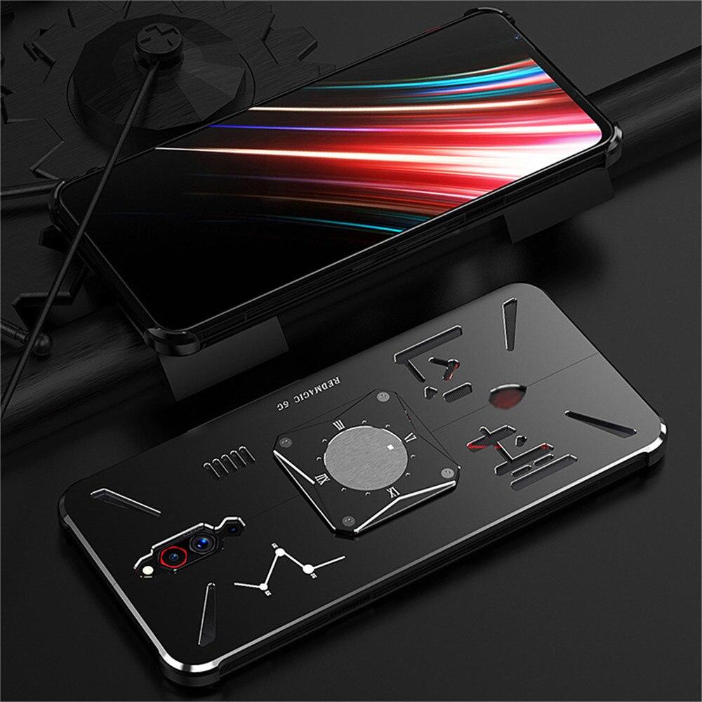 "Funda protectora de Metal anticaída para teléfono ZTE Nubia Red Magic 5G 6,65 ""8/128GB 4500mAh carcasa para teléfono"
