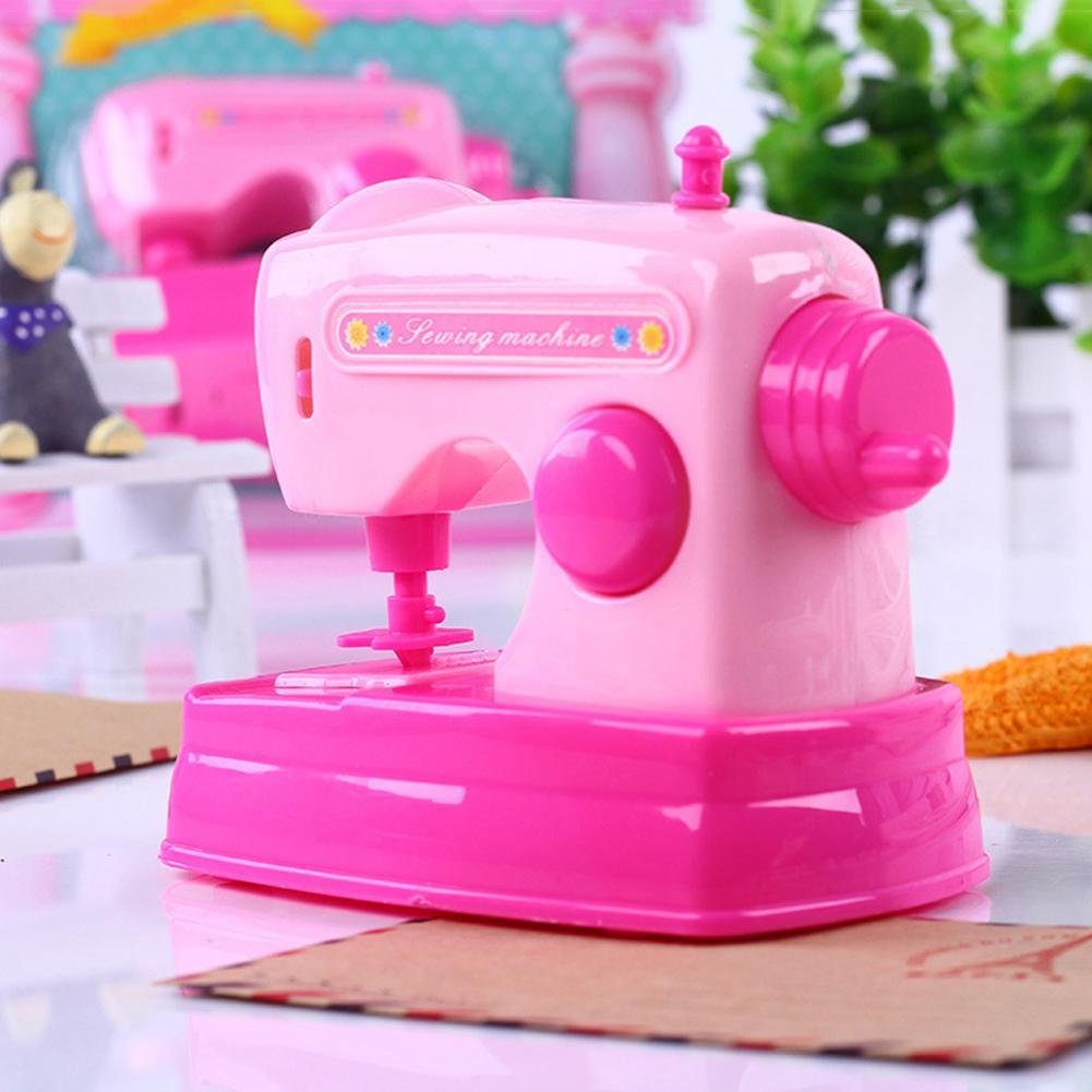 Kids Simulation Sewing Machine Toy Mini Furniture Toy Educational Learning Design Clothing Toys Creative Gift For Kid Desk Decor multifunction educational learning machine english early tablet computer toy kid interactive toy training