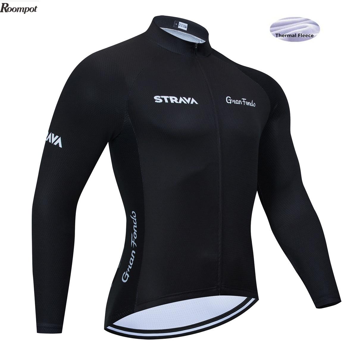6XL 2020 nueva ropa para equipo de ciclismo STRAVA, jersey de bicicleta de secado rápido para hombres, bicicleta de invierno, camisetas de ciclismo profesional, Maillot de bicicleta