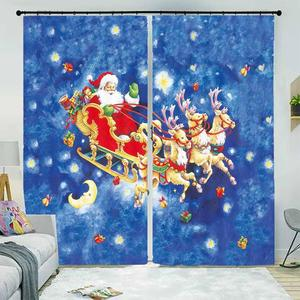 2019 New Style Blackout Window Curtain European Living Room Bedroom Curtains For Chrismas 3D Drapes