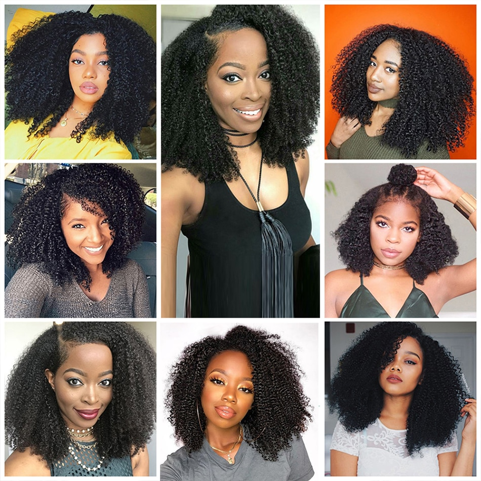 Kinky Curly Wig 13x1 T Part Lace Wig Human Hair