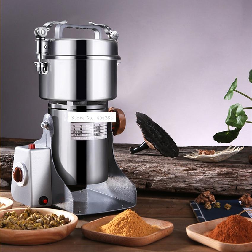 جديد 800Y الغذاء مطحنة مسحوق آلة متناهية الصغر المنزلية الصغيرة الجافة طحن الحبوب الصينية العشبية الطب طاحونة 220 فولت 1400 واط 800 جرام