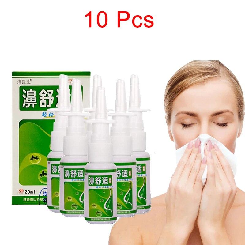 10 Pcs Nasal Spray Nose Care Chronic Rhinitis Sinusitis Spray Chinese Traditional Medical Herb Spray