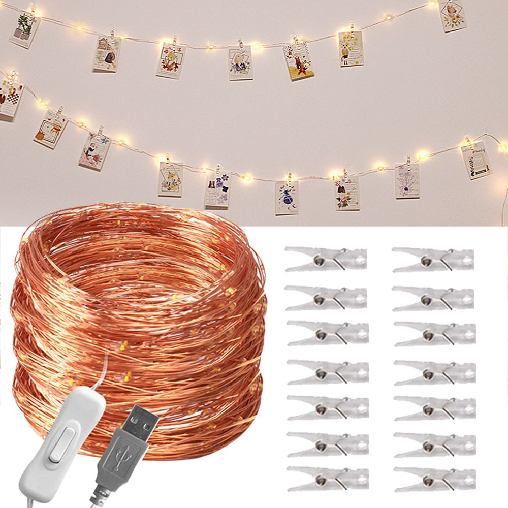 10м USB фестоны жарықдиодты жарық - Мерекелік жарықтандыру - фото 2