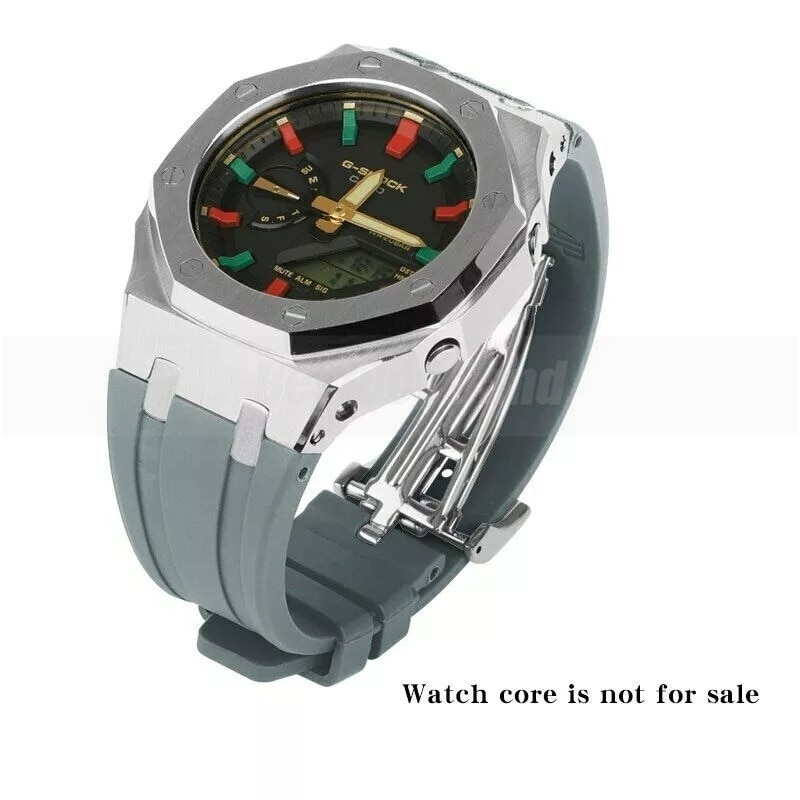 GA2100 3rd Modified Accessories StrapGA-2100 Rubber Strap Metal Stainless Steel Adapter for Frame Bracelet Mens Watch Accessorie enlarge