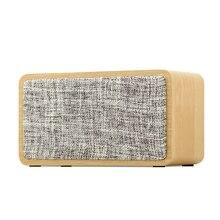 Беспроводной мини-динамик s портативный Bluetooth динамик для телефона аудио домашний стерео музыкальный плеер тканевый деревянный уличный дин...