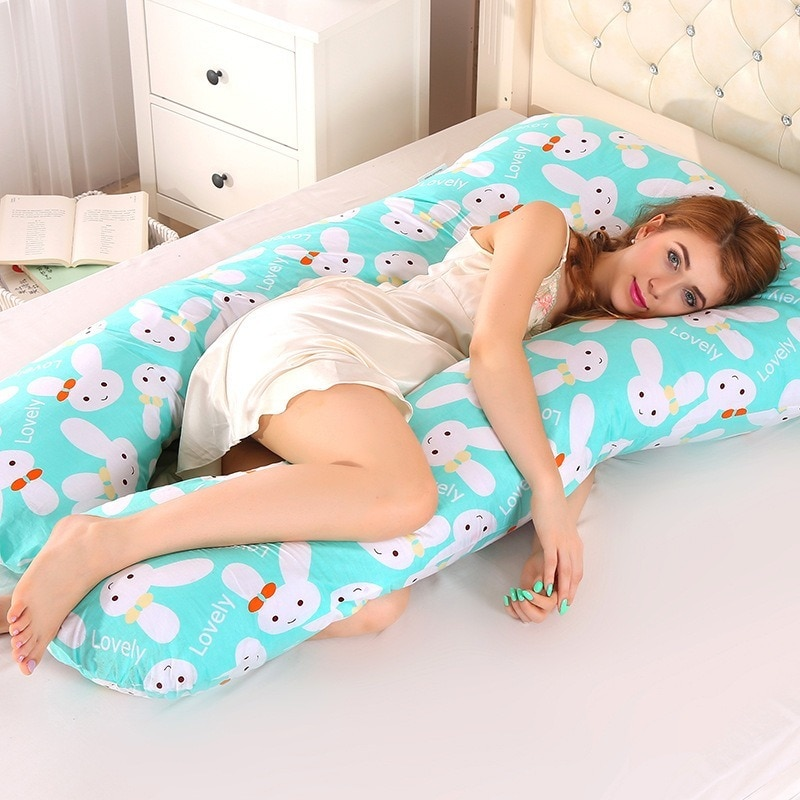Sleeping Support Pillow For Pregnant Women Body PW12 100% Cotton Rabbit U Shape Maternity Pillows Pregnancy Side Sleepers 1.3KG