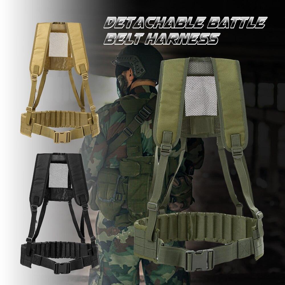 Men Tactical Vest Military Belt Condor Plate Carrier H-harness Molle Hunting Training Battle Chest Rig Padded Waist Belt