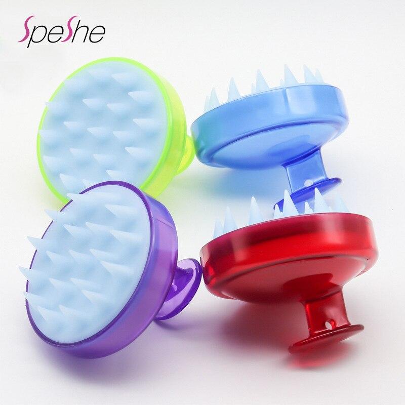 2 pçs cepillo anticaspa silicone cabeça de lavagem do corpo raiz de cabelo coceira couro cabeludo escova de banho spa massagem pente anti-caspa shampoo