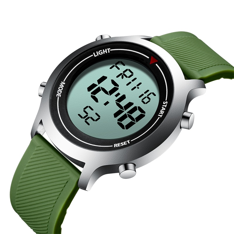 BIDEN-reloj deportivo multifunción para hombre, cronógrafo Digital resistente al agua, con alarma,...