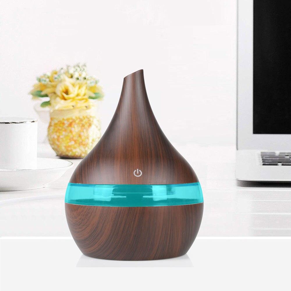 300 мл USB Электрический Ароматерапевтический воздушный диффузор с древесным зерном ультразвуковой увлажнитель воздуха охлаждающая противо...