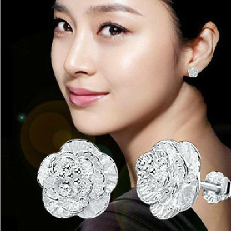 ModaOne Simple 925 Sterling Silver Mosaic Zircon Flower Earrings For Women Gift слингобусы mosaic simple