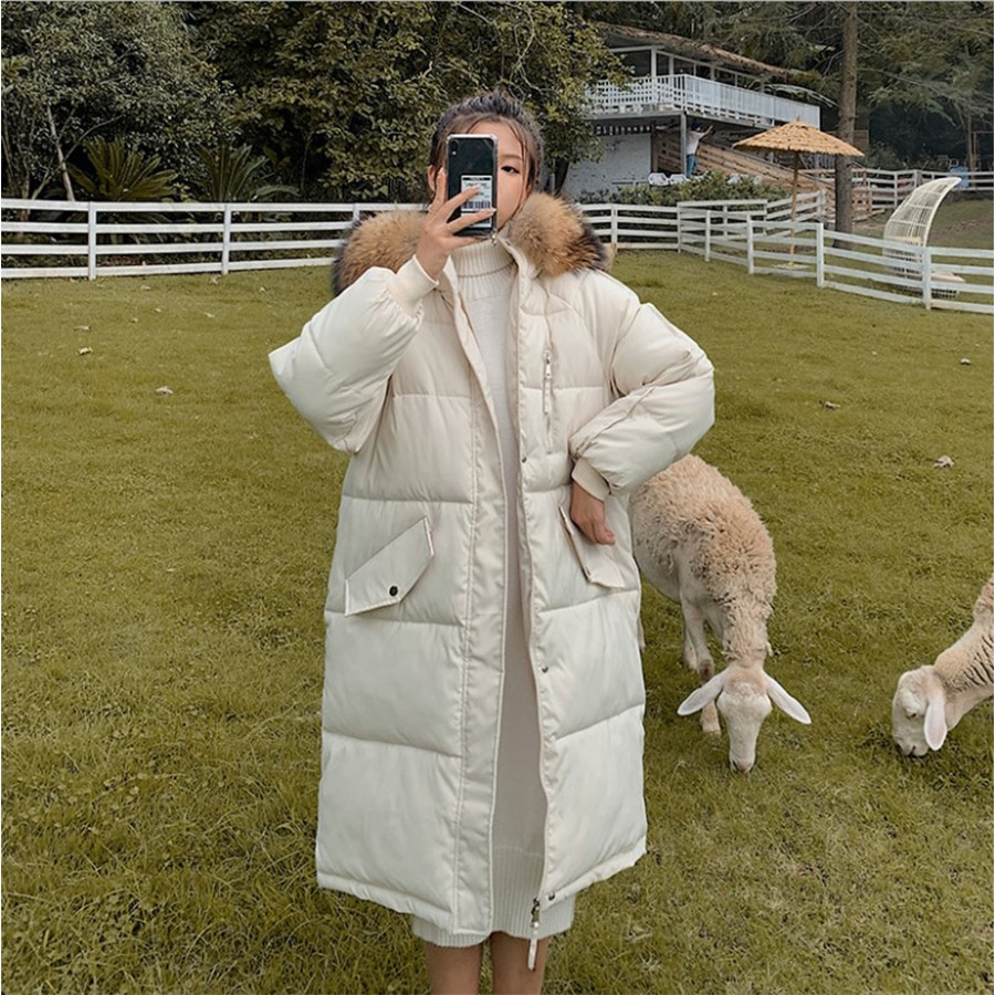 Женская зимняя куртка свободного покроя, стеганая куртка, Женская длинная куртка, новинка 2021, зимняя куртка большого размера с подкладкой