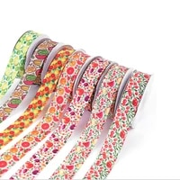 5yardslot 25mm grosgrain ribbon fruit printed ribbons for diy bow craft card gifts wrapping supplies