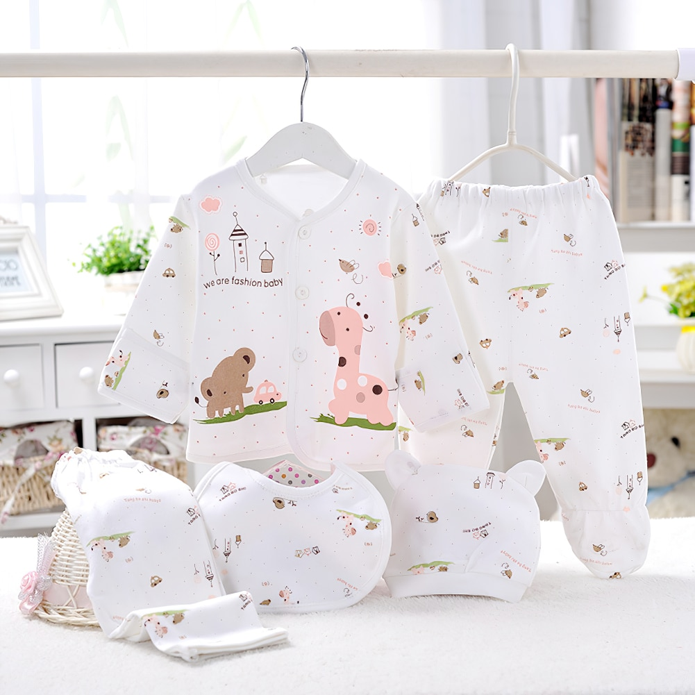 2021 Newborn Baby Spring And Autumn Cotton Clothing Long-Sleeved Pajamas Baby 8-Piece Set Boy And Girl Boutique Pajamas Hot Sale