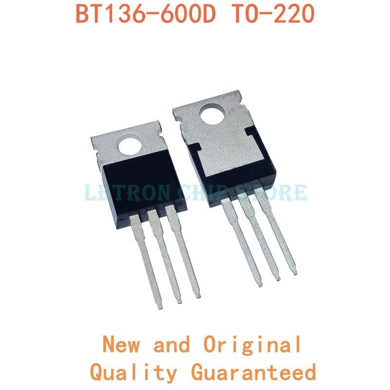 10 pces BT136-600D to220 BT136-600 a-220 bt136 600d original e novo chipset ic