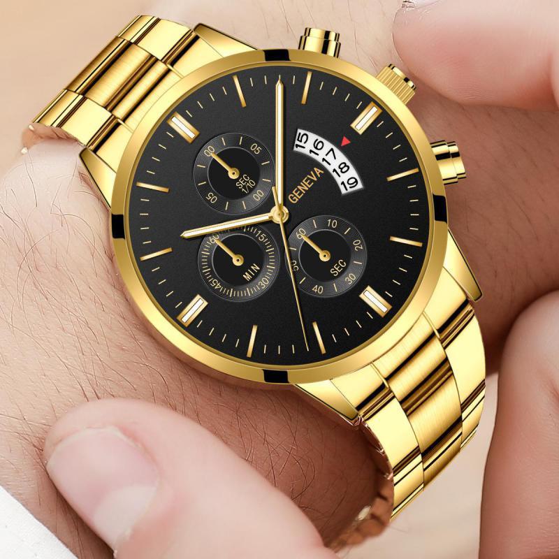 Relojes para hombre de lujo de la mejor marca GENEVA, reloj informal a la moda, reloj de pulsera de cuarzo deportivo militar, reloj Masculino 2020