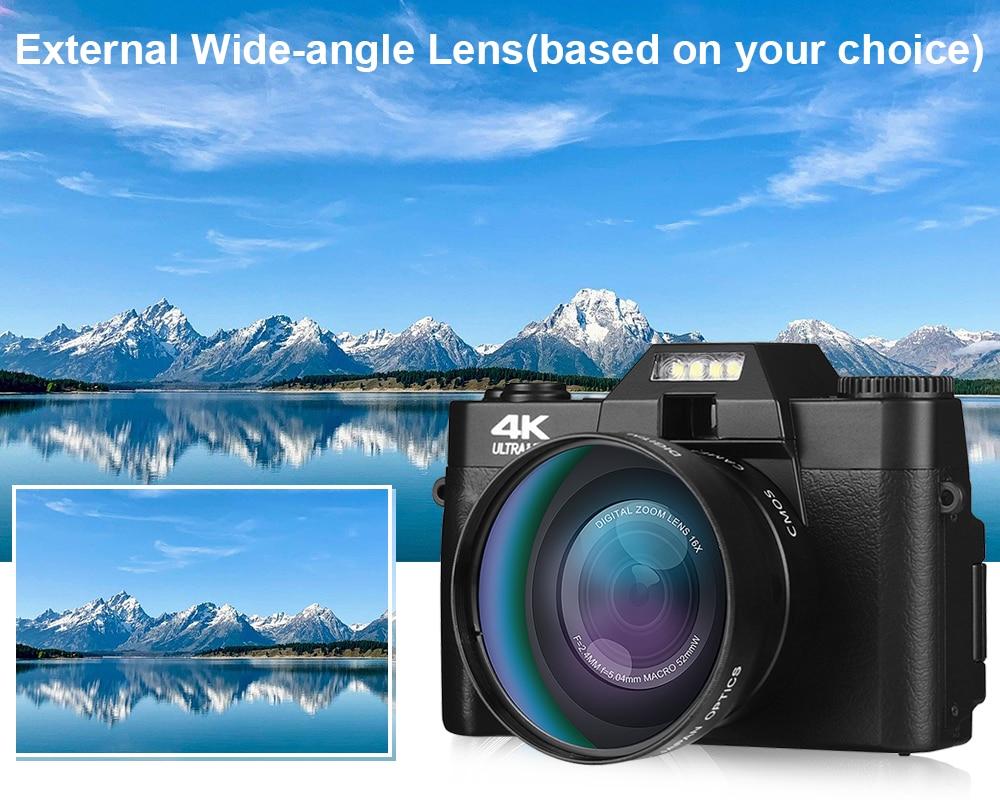 Digital Video Camera Vlogging Camcorder for Facebook WIFI Portable Handheld 16X Digital Zoom