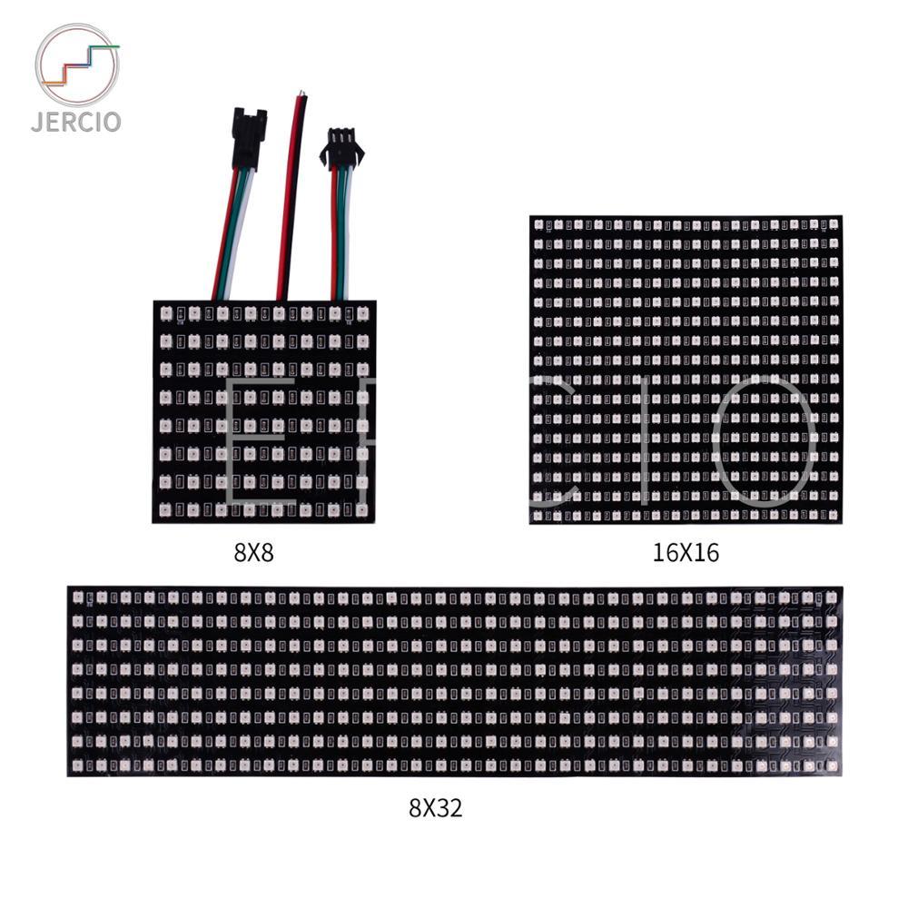 Pantalla de panel JERCIO 3535 como ws2812b 8x 8/16x1 6/8x32 píxeles matrix Sk6812 puede direccionar individualmente el chip IC DC5V hecho a medida