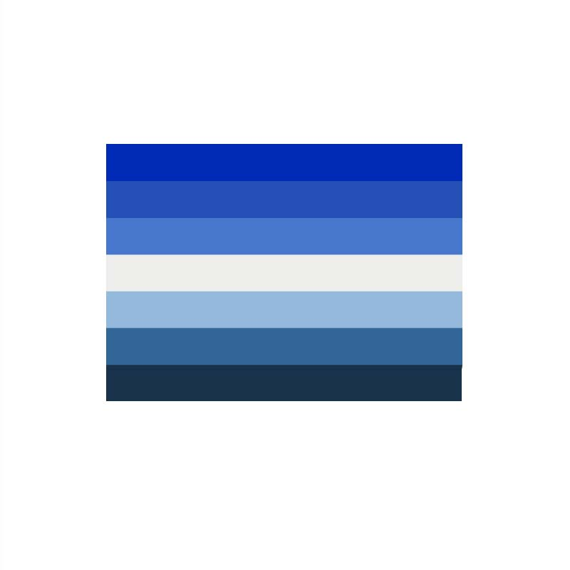 90x150cm  Blue Gay Flag