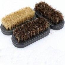 Shoe Polish Brush Brush Natural Leather Pig Hair Soft Polishing Tool Cleaning Brush Suede Nub Leathe