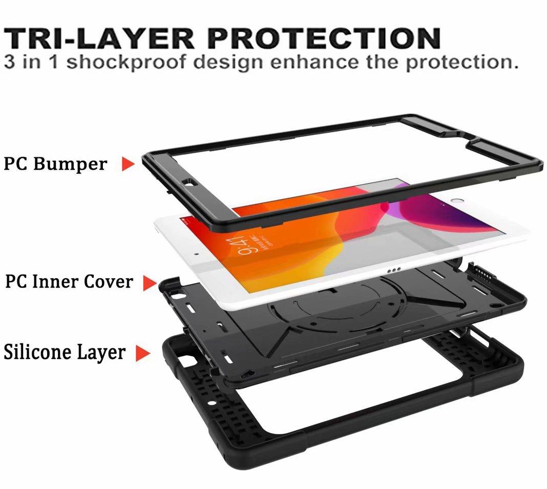 Holder Generation Rugged Case For 2020 iPad Hybrid Armor Duty Shockproof Pencil 8th Heavy