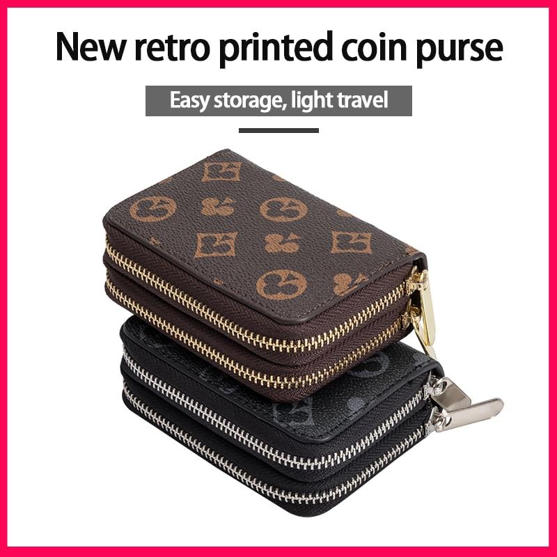 Short Wallet Zipper Card Holder Women's European and American Fashion Credit Card Coin Purse Small P