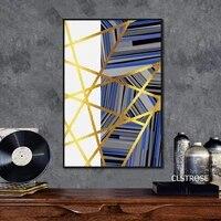 Abstrait nordique affiche Simple motif geometrique toile peinture mode decoration de la maison mur Art photos pour chambre pas de cadre