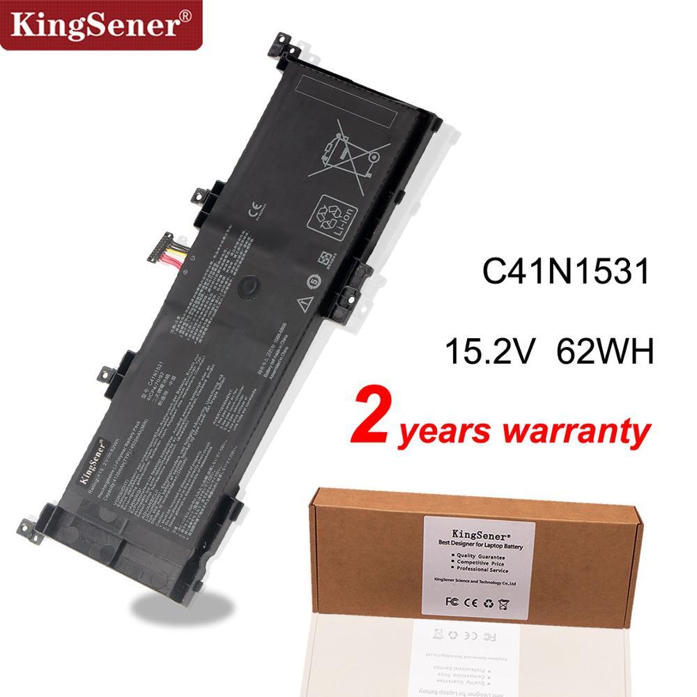 Kingseenr C41N1531 بطارية كمبيوتر محمول ل ROG Strix GL502V GL502VT GL502VS-1A GL502VY-DS71 GL502VY GL502VT-1B GL502V 15.2V 62WH