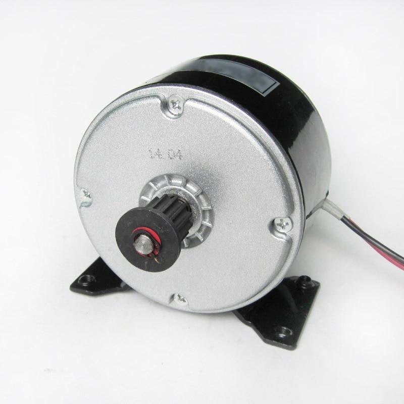 Cepillo eléctrico del MOTOR de 24V DC 14A 250W para la VESPA de la bici E GO-KART con el soporte del montaje