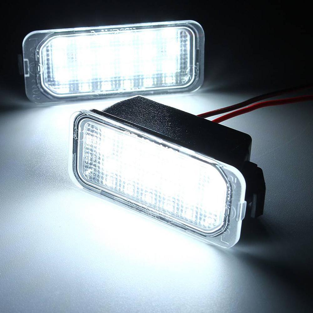 Luz de led para placa de número, para ford focus mk ii fiesta mk vii mondeo mk iv kuga S-MAX 2008-2019 lâmpadas de seta
